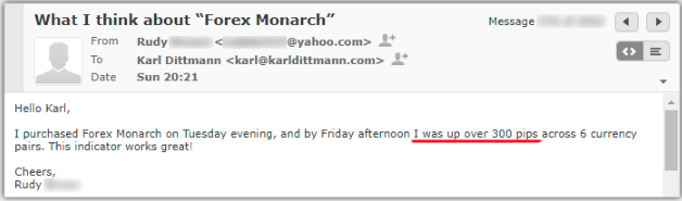 Forex Monarch Testimonial